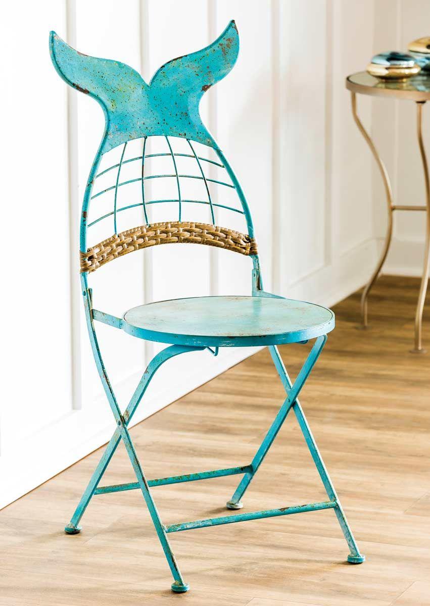 Mermaid Tail Folding Chair #mermaidbathroomdecor