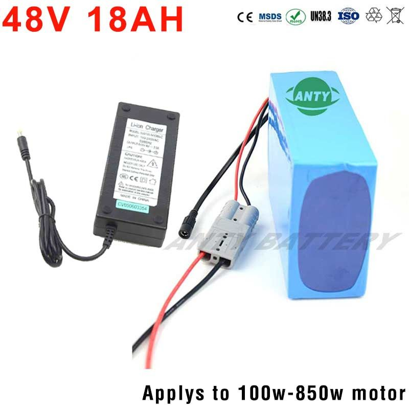 Good Quality 48V 18Ah Lithium Battery Pack For 48V Electric Bikes 500W-1000W Motor With 2A Charger 30A BMS Free Shipping Duty