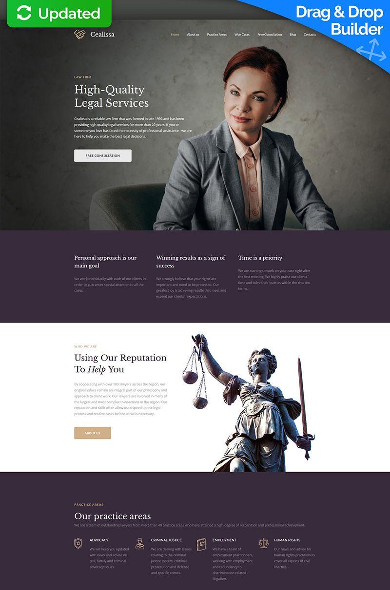 Cealissa Lawyer Attorney Premium Moto Cms 3 Template Web Design Marketing Website Design Web Development Design