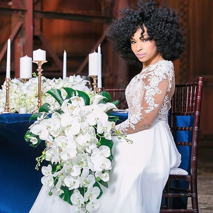 Pin By Gagan Sandhu On Bridal Inspo: 19 Blushing Brides Serving The Ultimate Natural Hair Inspo