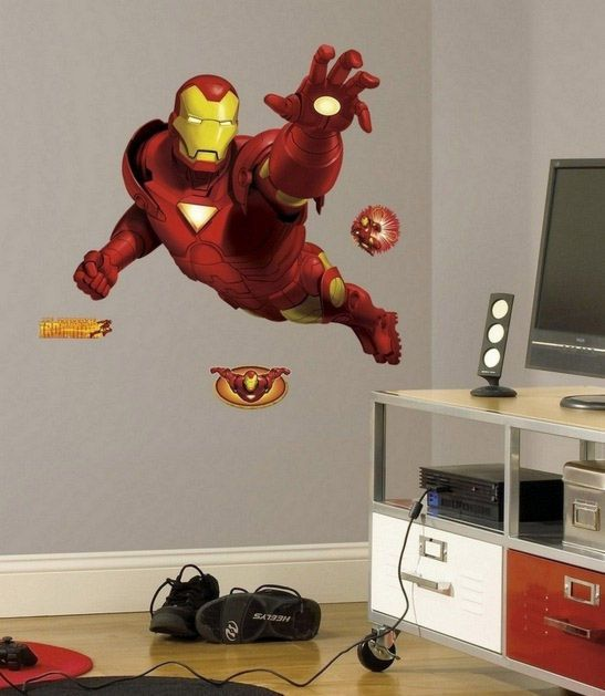 Jenn L Griffin Iron Man Wall Decal Marvel The Avengers Large Kids