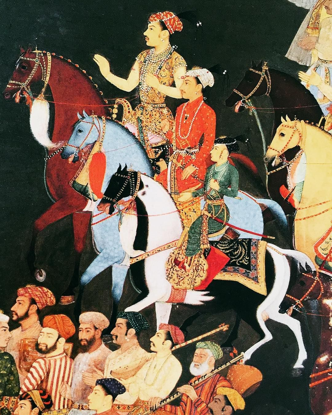 Theme for today (pumpkins were so yesterday)  #spicemama #melbournecup #horseracing #mughal #mughalart #beautiful #painting #inspo #livecolorfully #lifeisbeautiful #thehappynow #flashesofdelight #indian #art #design #inspiration