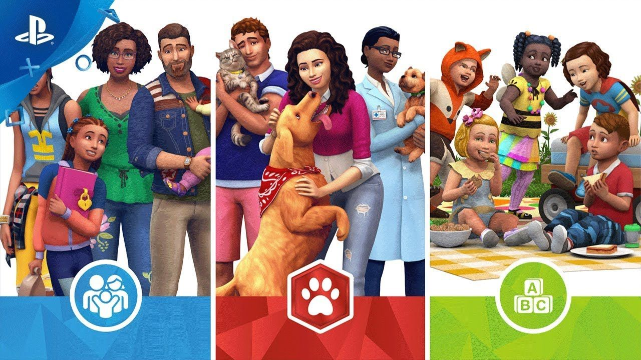 The Sims 4 Cats Dogs Parenthood And Toddler Stuff Bundle 3 Ps4 With Images Sims 4 Bundle Sims Sims 4