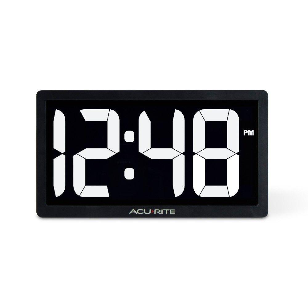 Acurite 10 Digital Led Table Clock White In 2020 Led Clock Clock Digital Clocks