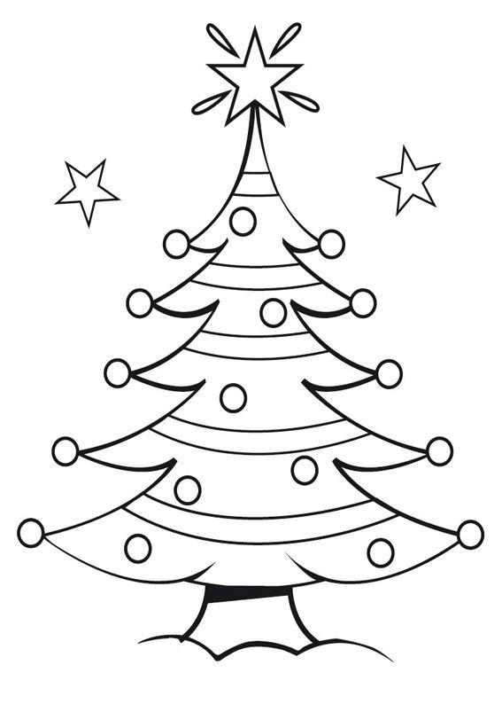 Disegni Da Colorare Albero Di Natale.21 Disegni Dell Albero Di Natale Da Colorare Ekg Alberi Di
