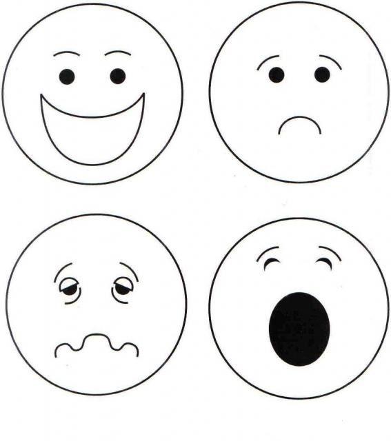 Duygular Boyamasayfası Okulöncesi Boyama Emotions Preschool