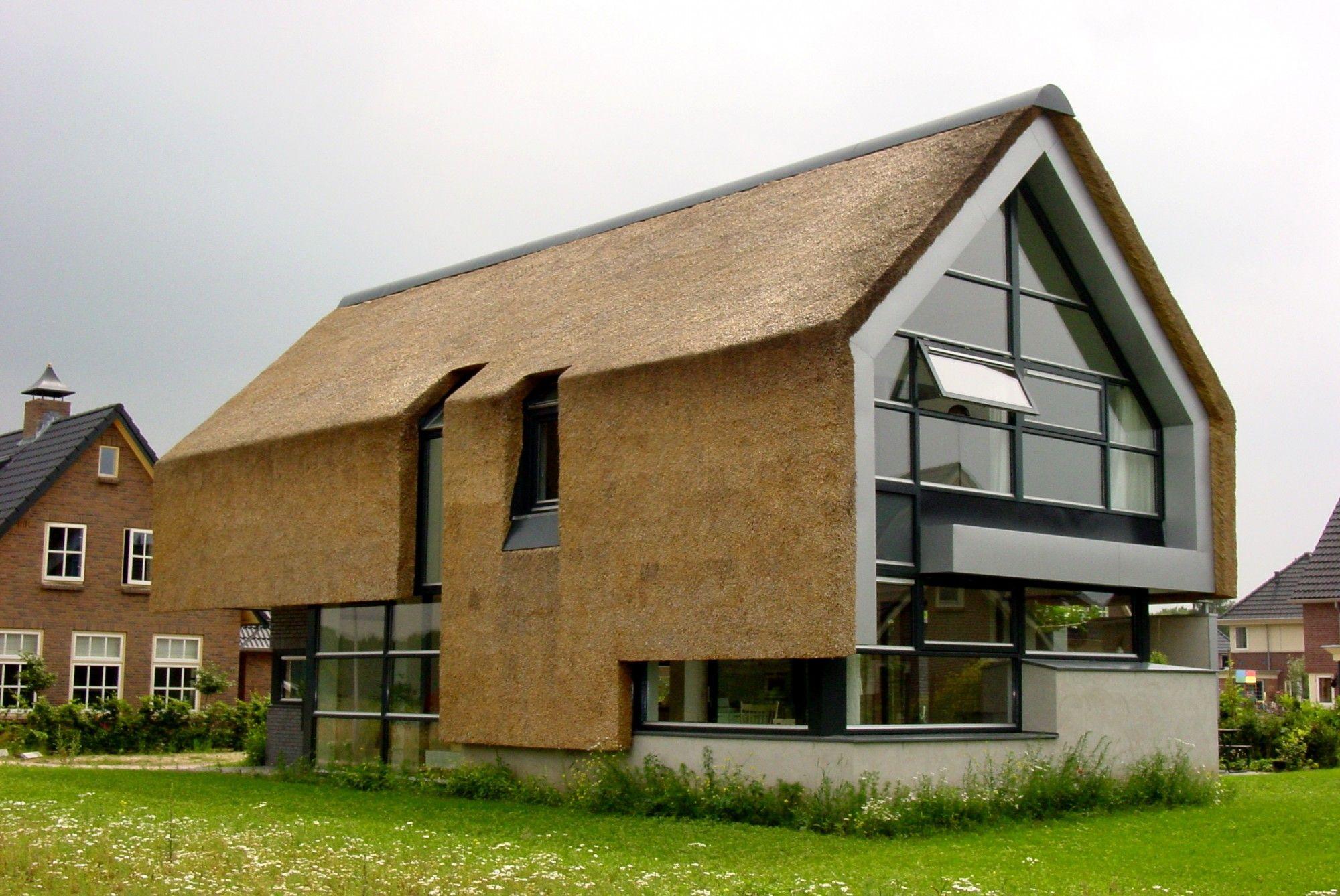 Rieten Dak Woning Modern House Thatched Roof H User