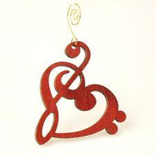Treble Clef Ornament
