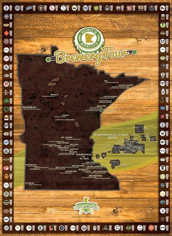 breweries in minnesota map Mn Brewery Tour State Map Brewery Tours Minneapolis St Paul breweries in minnesota map