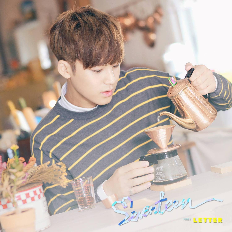 Men39s SEVENTEEN LOVE and LETTER Pretty U Woozi t