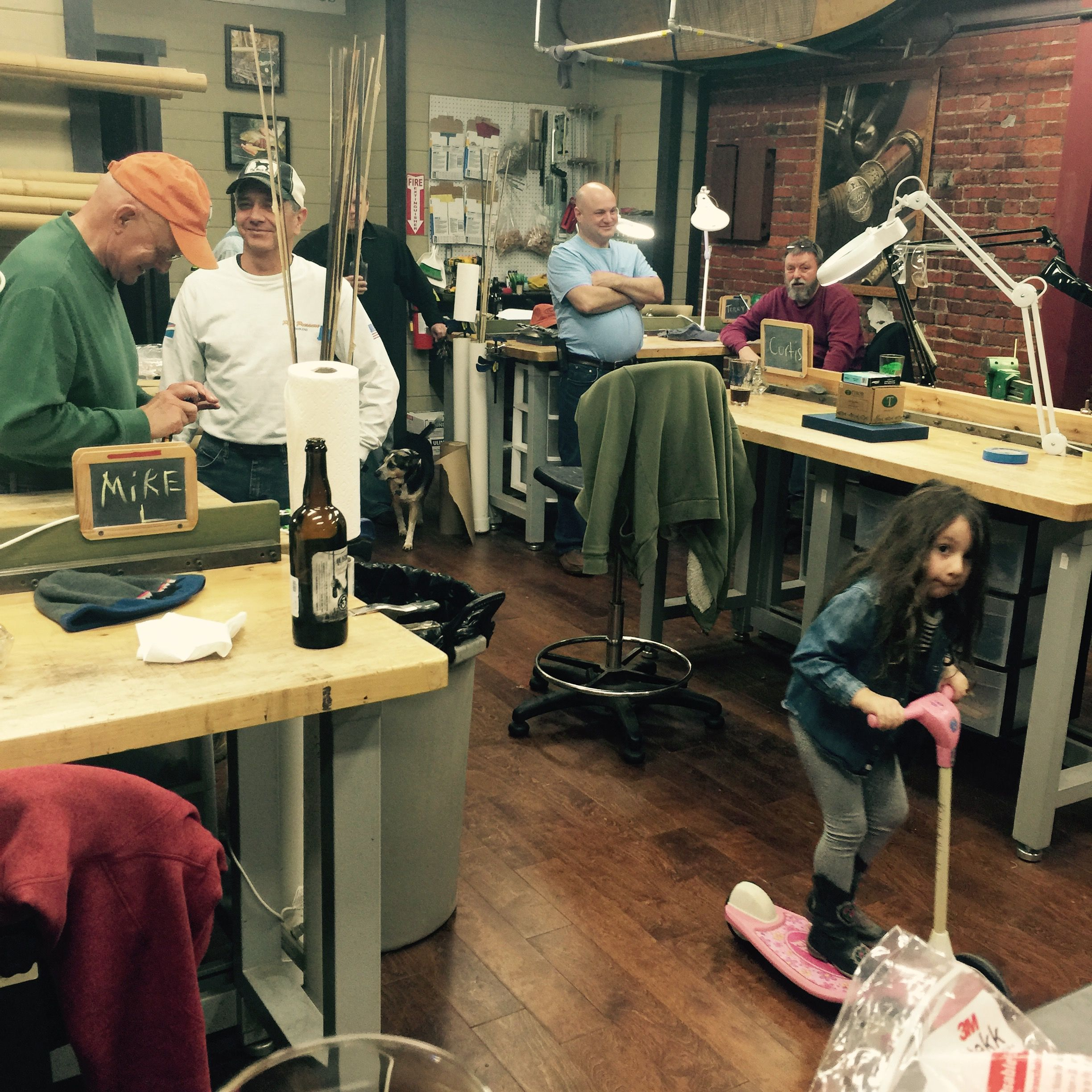 Another final day of a class at the Oyster Bamboo Fly Rod