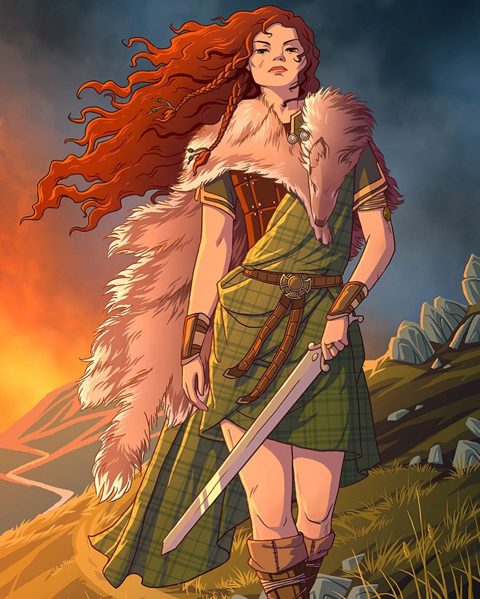 Tami Wicinas On Instagram Boudicca Celtic Warrior Queen She Was The First Of An Ongoing Illustration Seri Celtic Warriors Character Art Fantasy Art Warrior