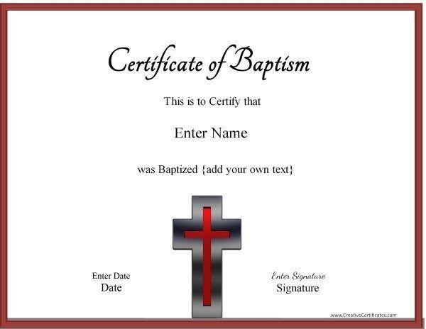 Baptism Certificates  Amanda    Certificate