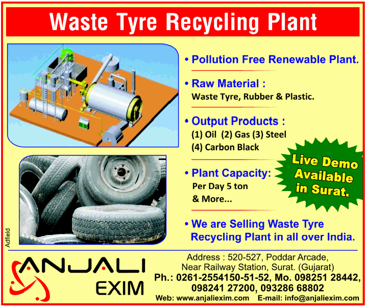 World Largest Tyre Recycling plant, Tyre Pyrolysis Plant