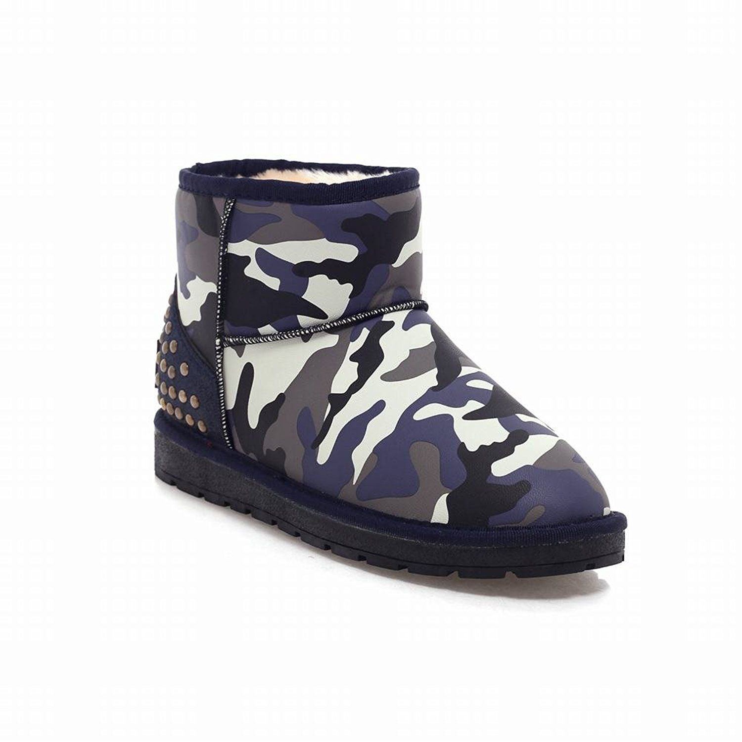 Show Shine Women's Chic Rivets Camouflage Platform Boots Ankle Boots Snow Boots -- You can get more details by clicking on the image.
