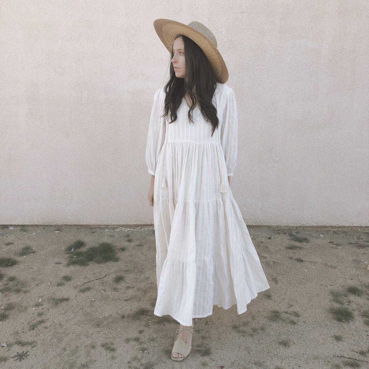 Pin By Kay Harless On Style In 2021 Cotton Gauze Dress White Flowy Dress White Boho Dress [ 1199 x 1200 Pixel ]