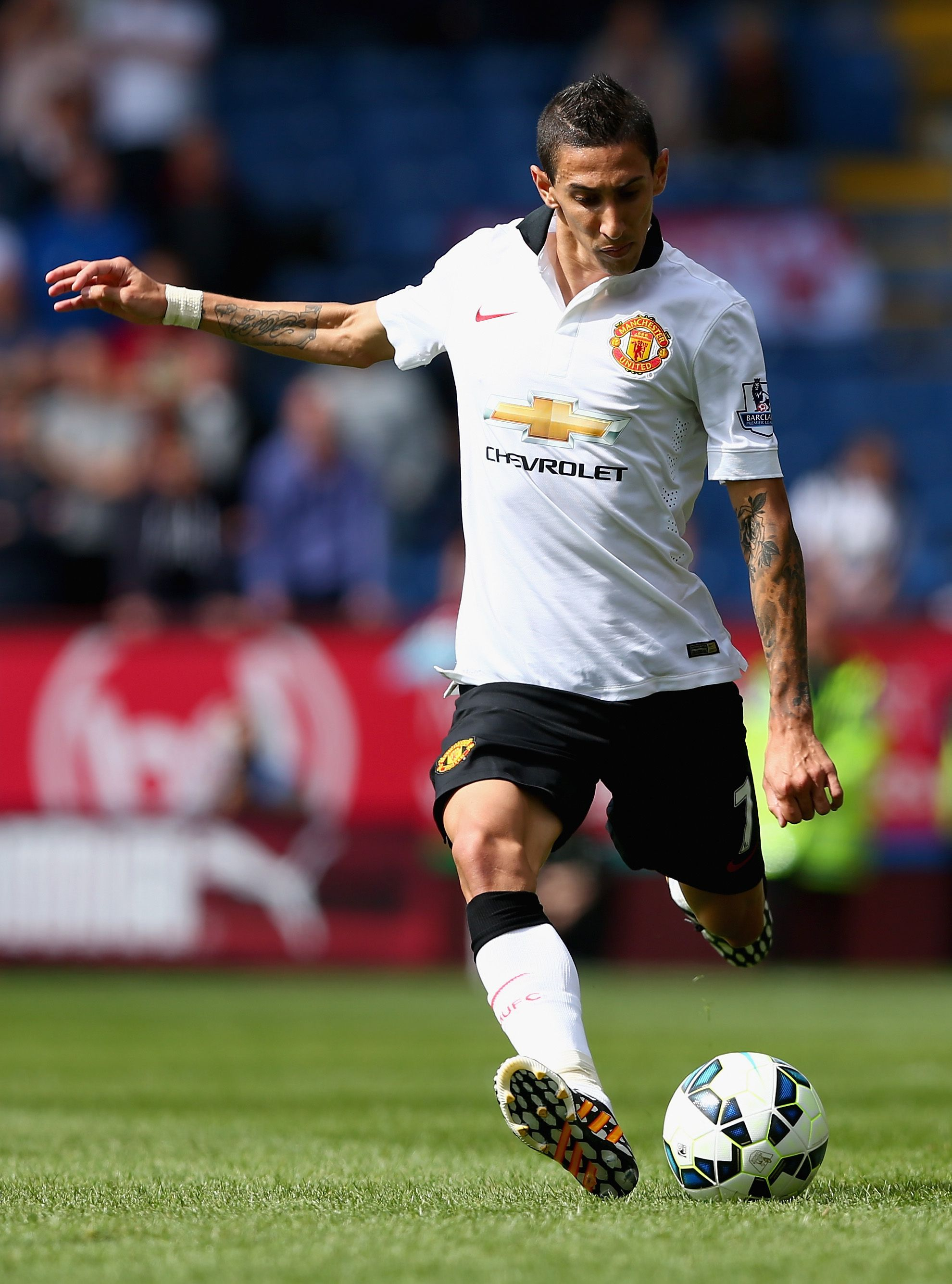 Angel Di Maria made his manutd debut in the white away