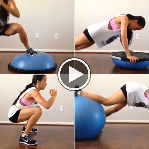 Bosu Ball Total Body Workout: HIIT Circuit Using Your BOSU Ball! Great Full Body Cardio
