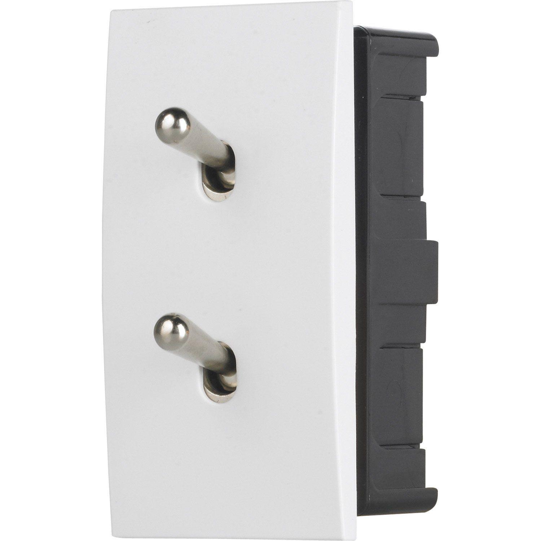 Double Interrupteur Va Et Vient Karo Modul Design Blanc
