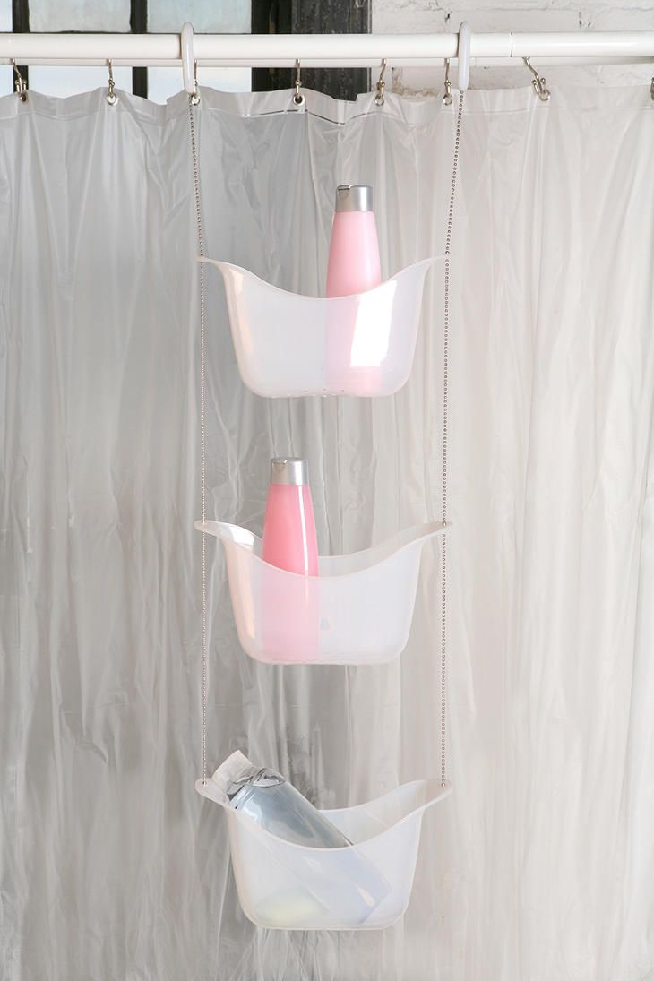 Super Shower Storage Need This For My Claw Foot Tub Shower Could Possibly Make Myself Too Shower Storage Apartment Necessities Apartment Essentials