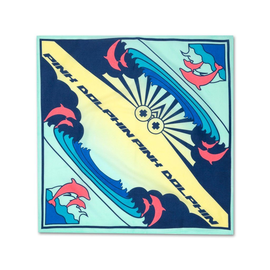 Cloud portrait bandana in multi clouds gift card
