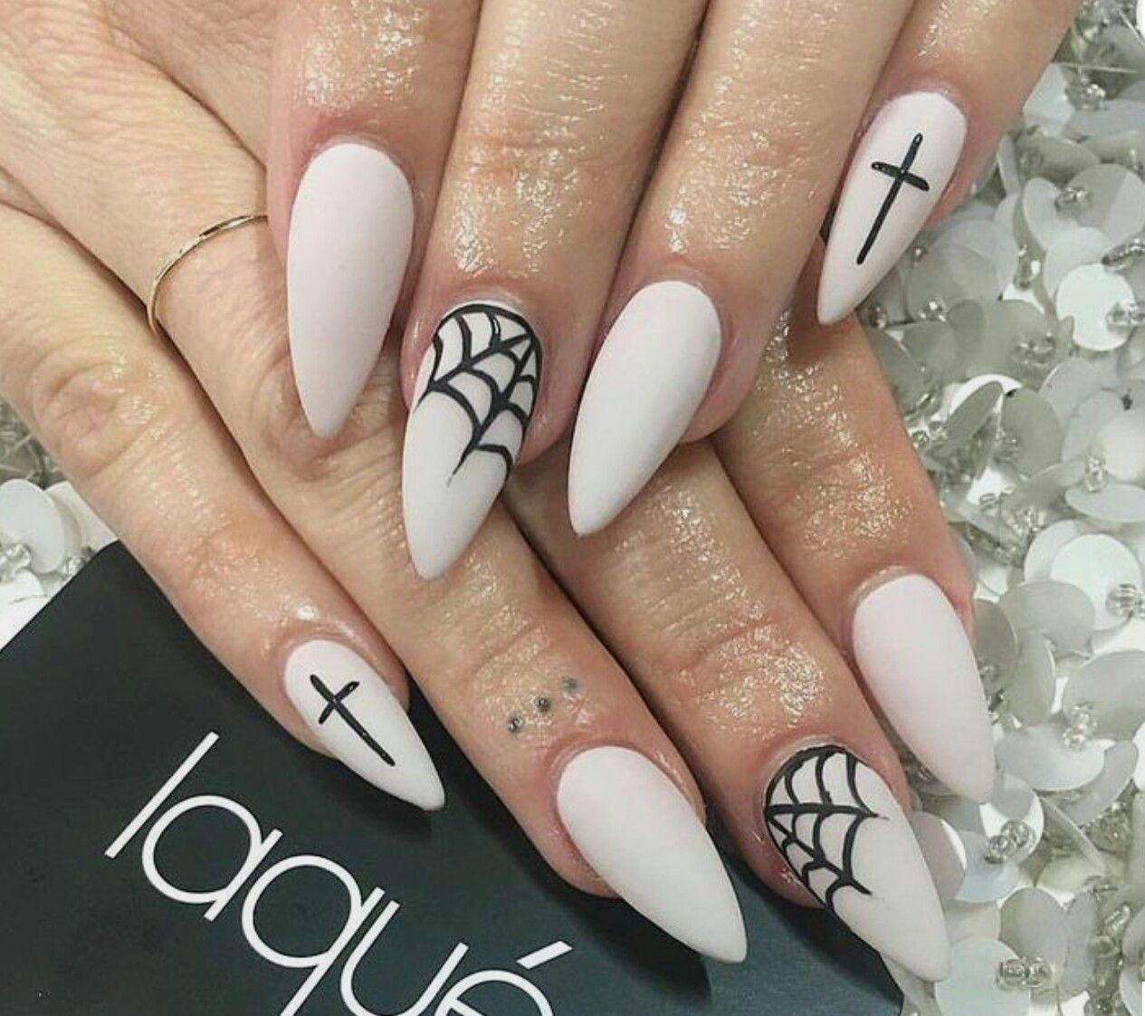 Helloween nail art ideas   nile designs 2018   Pinterest   Goth ...