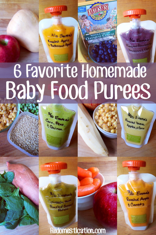 6 Homemade Baby Food Purees If You Re Worried About All The Processed Foods Out There You Can Even Ski Baby Food Recipes Baby Puree Recipes Making Baby Food
