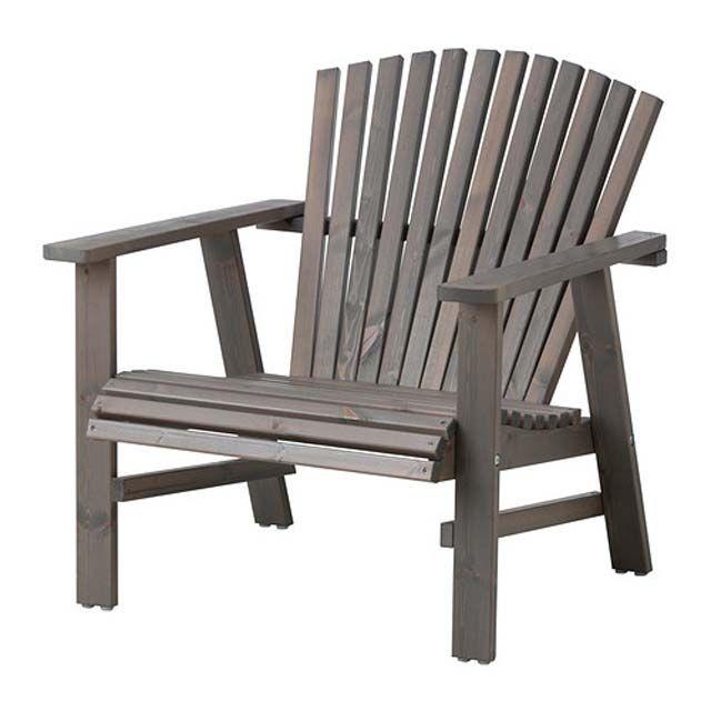 chaise de jardin style adirondack