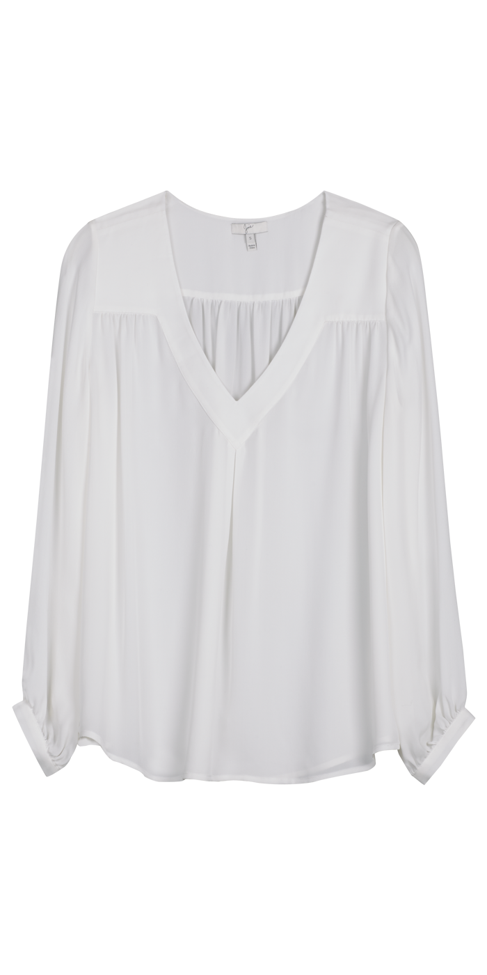Beautiful White Blouse Frenchie B Top Joie Clothes I Wear