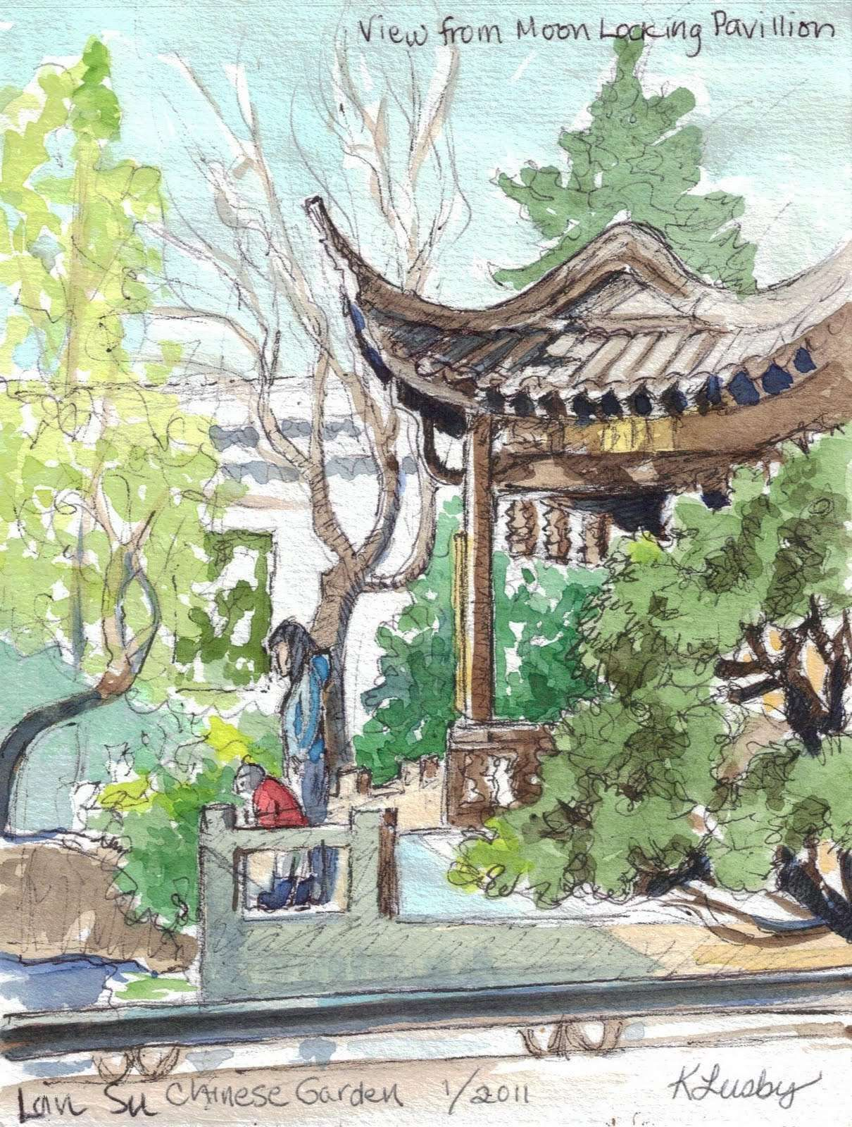 Chinese Garden A Photo From Guangdong South: Unique Chinese Garden Drawing