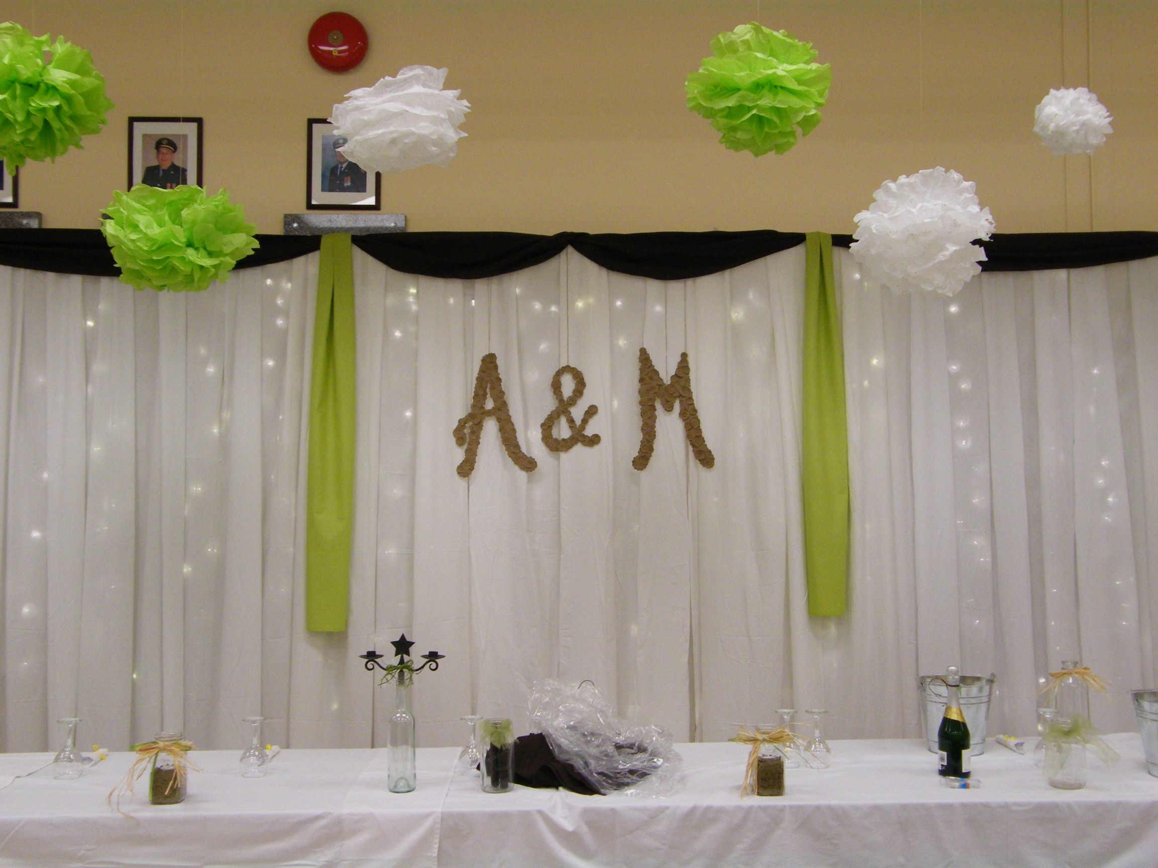 Cheap And Easy Wedding Backdrop Monograms Love Weddings 3