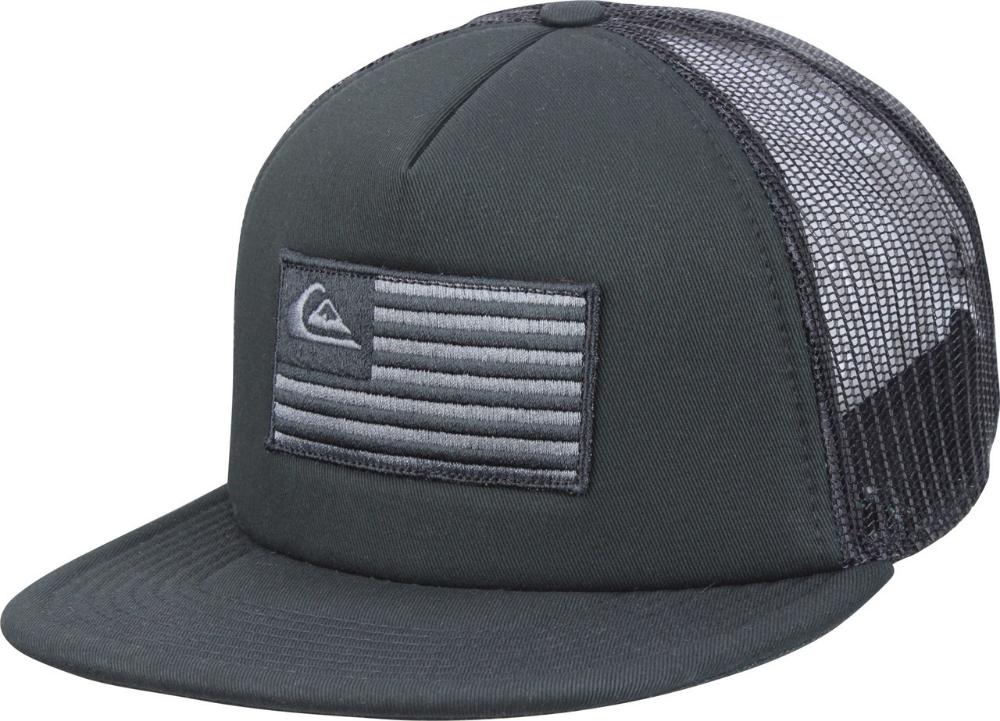 Quiksilver Mens Flag Stacker Usa 5 Panel Trucker Snapback Hat Black Snapback Hats Trucker Hats