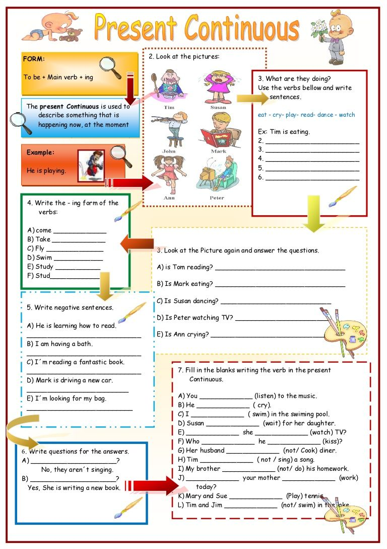 Worksheets Present Continuous Worksheets present simple activities buscar con google tenses pinterest continuous worksheet free esl printable worksheets made by teachers
