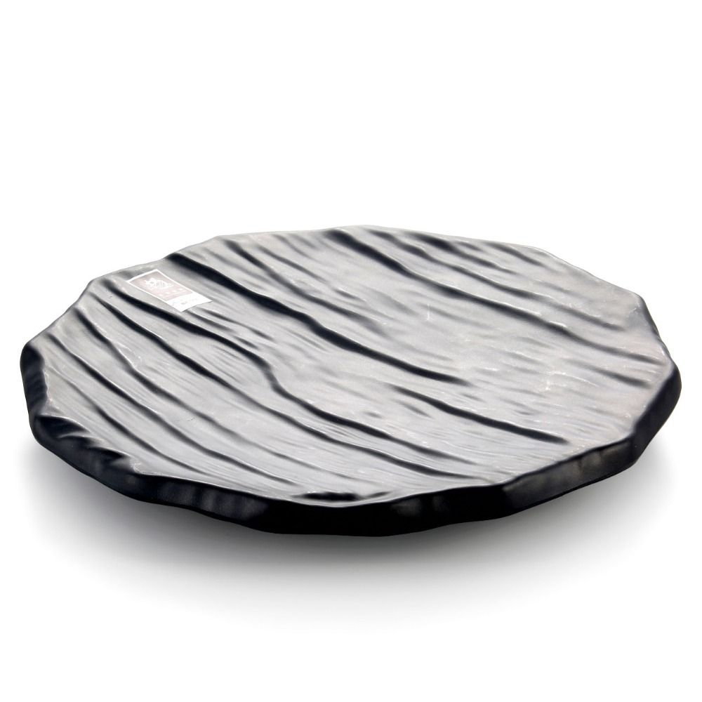 Round imitation wooden board melamine frost black color plate sushi dish wholesale tableware suppliers  sc 1 st  Pinterest & Round imitation wooden board melamine frost black color plate sushi ...