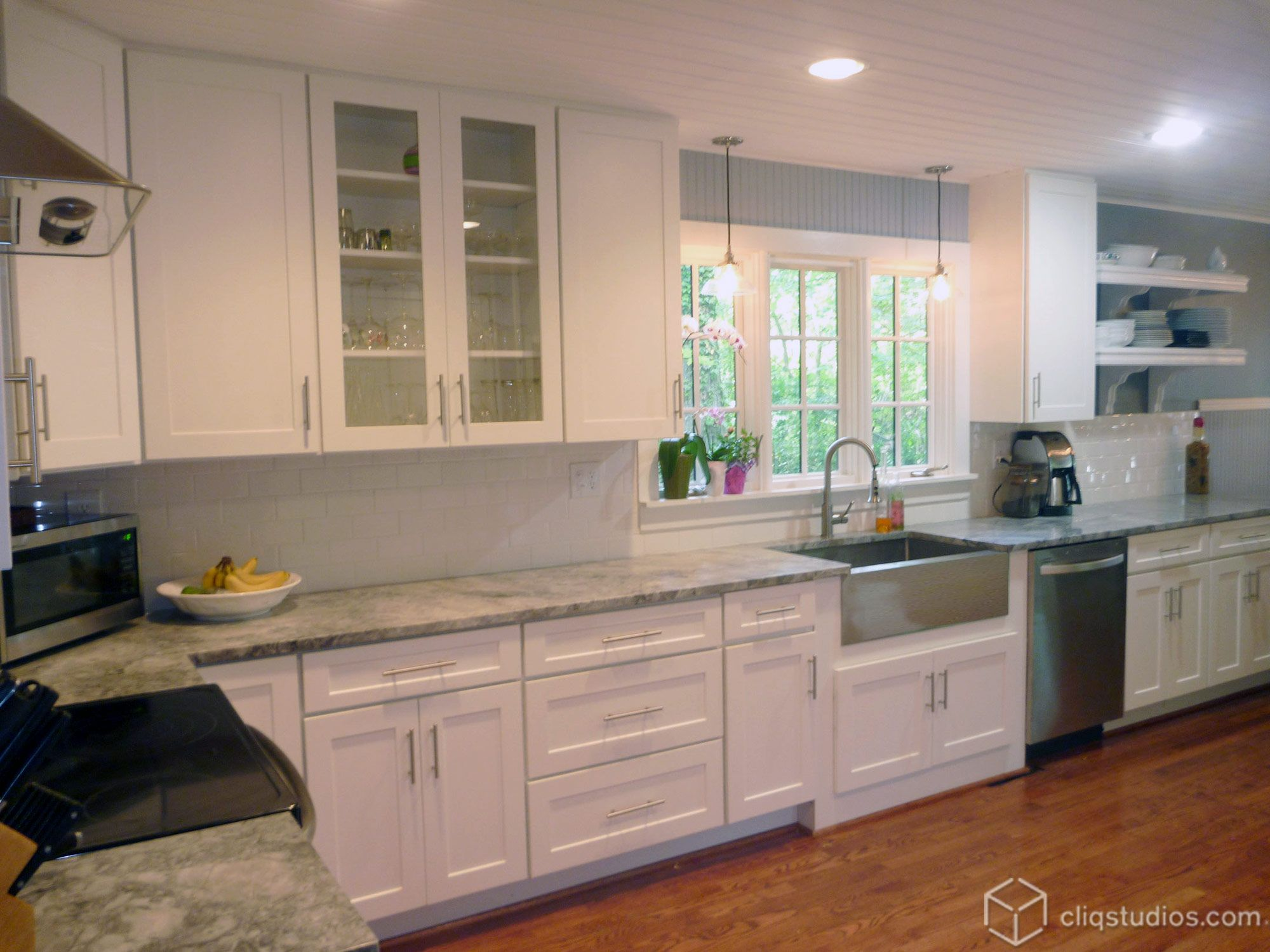New White Mission Style Dayton Kitchen Cabinets From Cliqstudios
