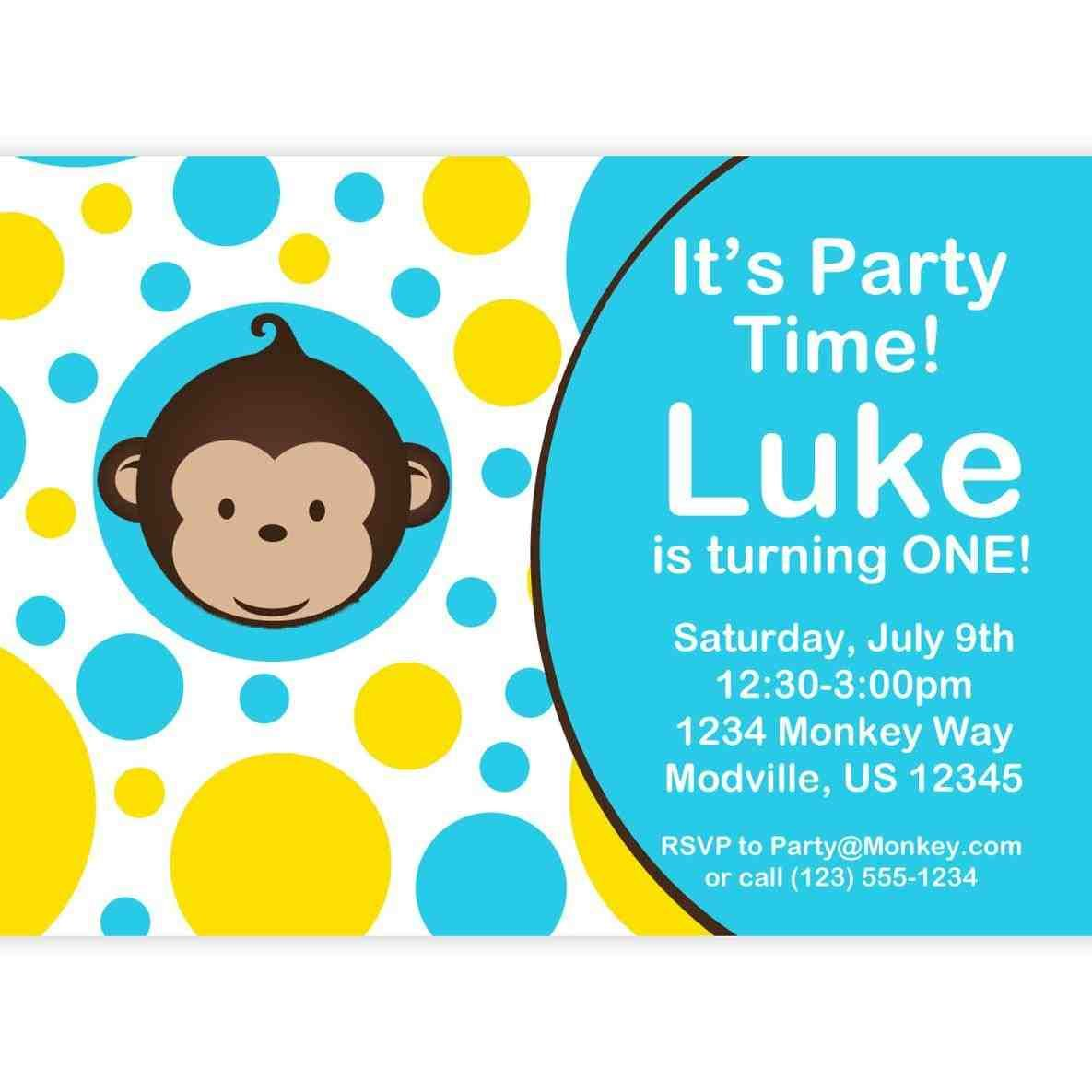 you . perfect for a monkey themed birthday! #invitations. cut out ...