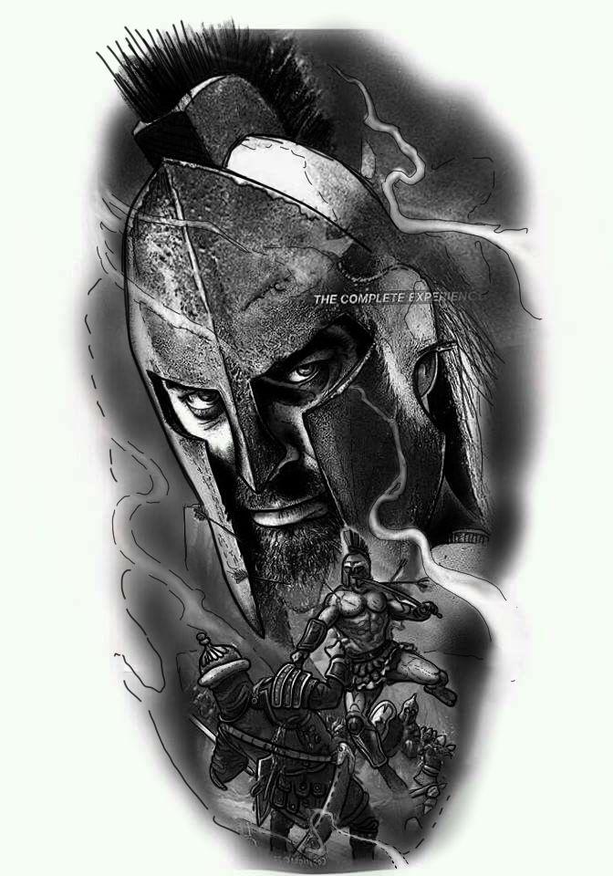 картинки воинов тату