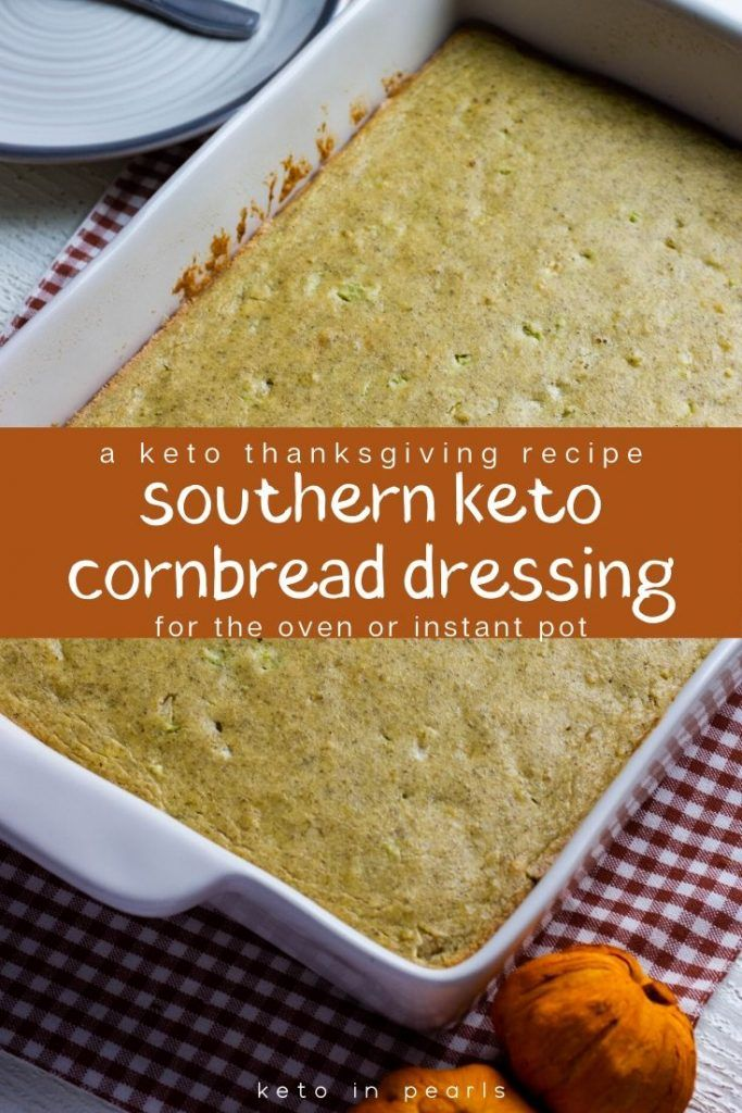 The best side dish for your keto Thanksgiving table is this southern keto cornbr…