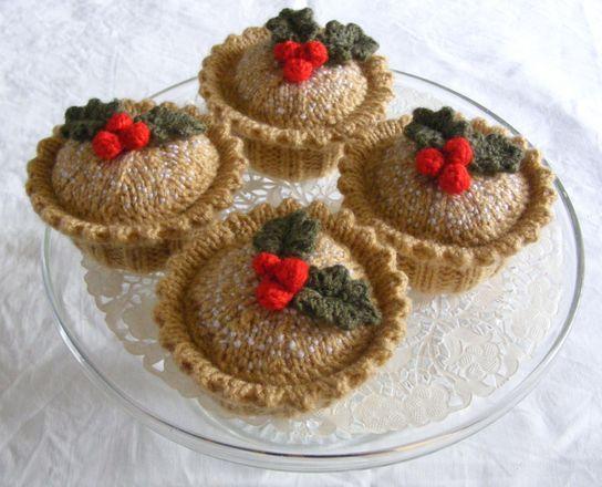 MINCE PIES COOKIES /& CARROTS SANTA/'S XMAS EVE FOOD PLATE KNITTING PATTERN