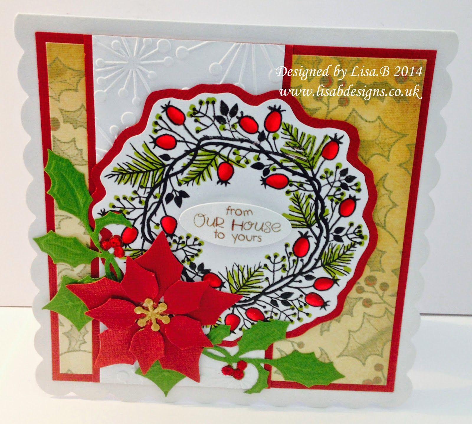 to Lisa.B.Designs Christmas Berry Wreath