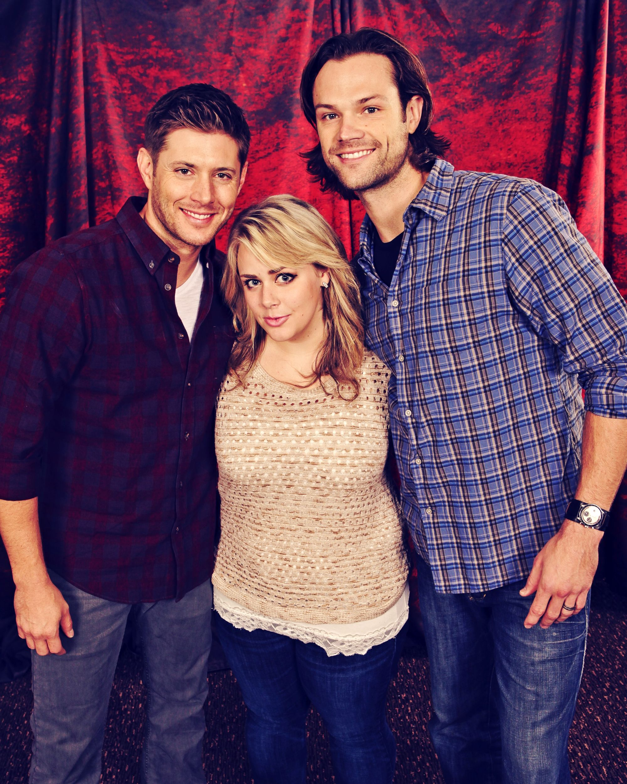 Heres my friend alisha morris with jensen ackles and jared supernatural convention heres my friend alisha morris with jensen ackles and jared padalecki of course kristyandbryce Images