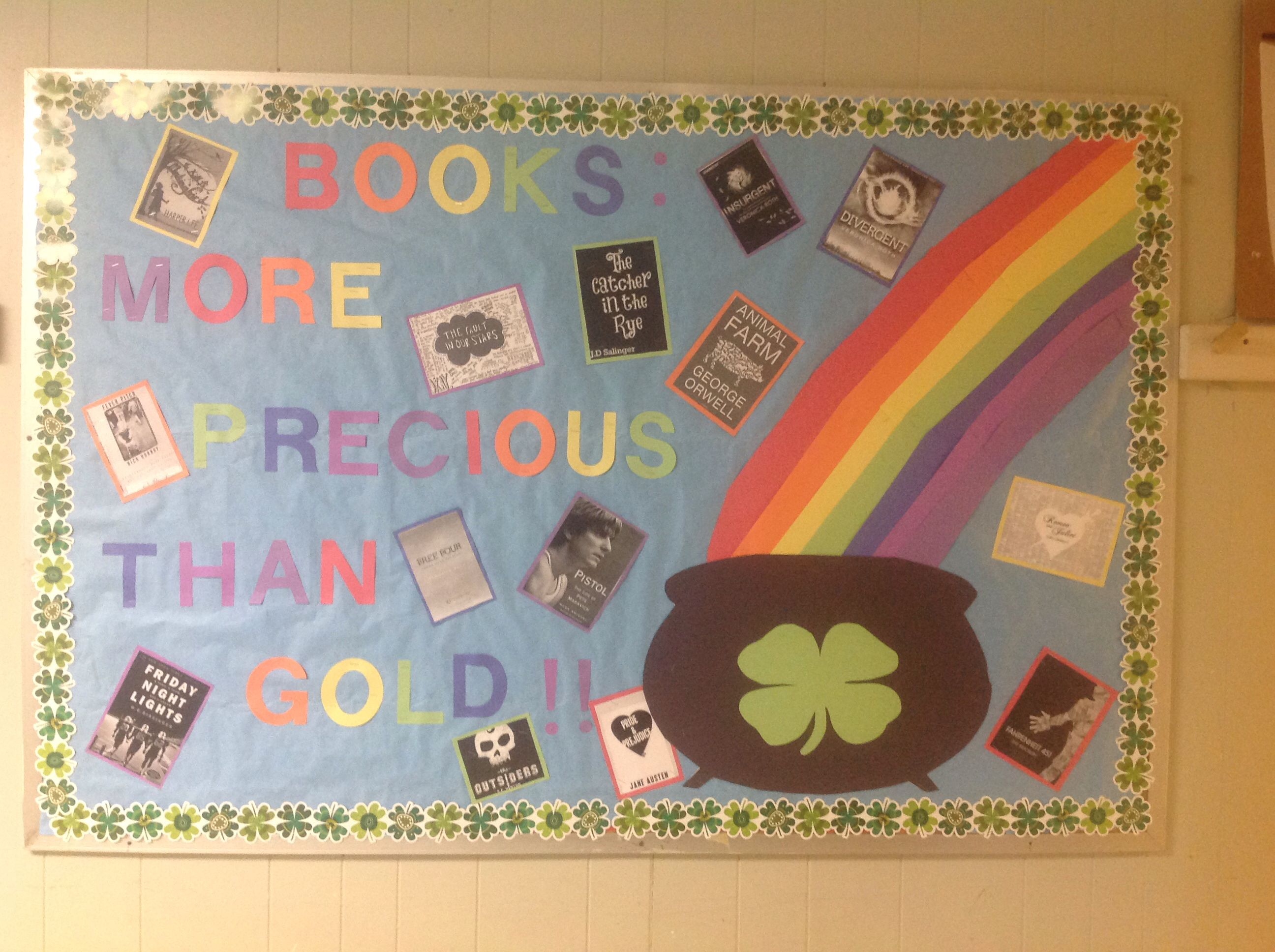 March Bulletin Board St Patrick Book Display Library Boards Design