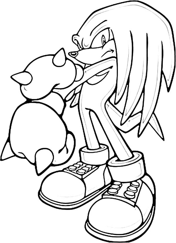 Sonic Knuckles Punch Break Coloring Pages Download Print Online Coloring Pages For Free Free Coloring Pages Free Kids Coloring Pages Online Coloring Pages