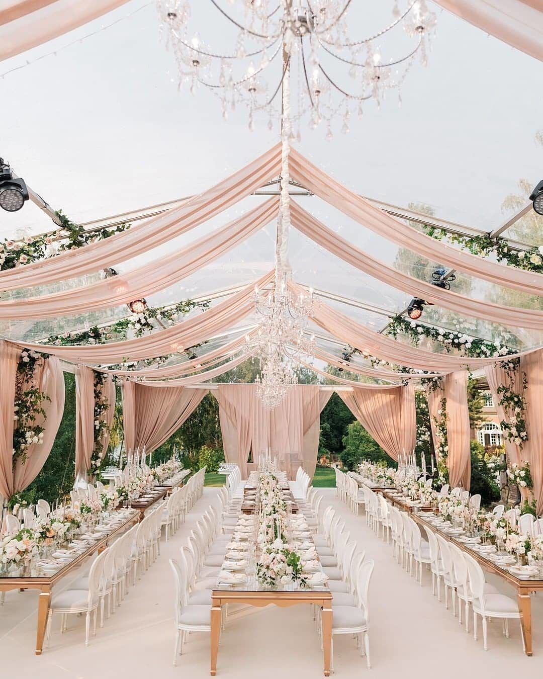These romantic wedding drapes are giving us all the warm fuzzies with their whimsical…