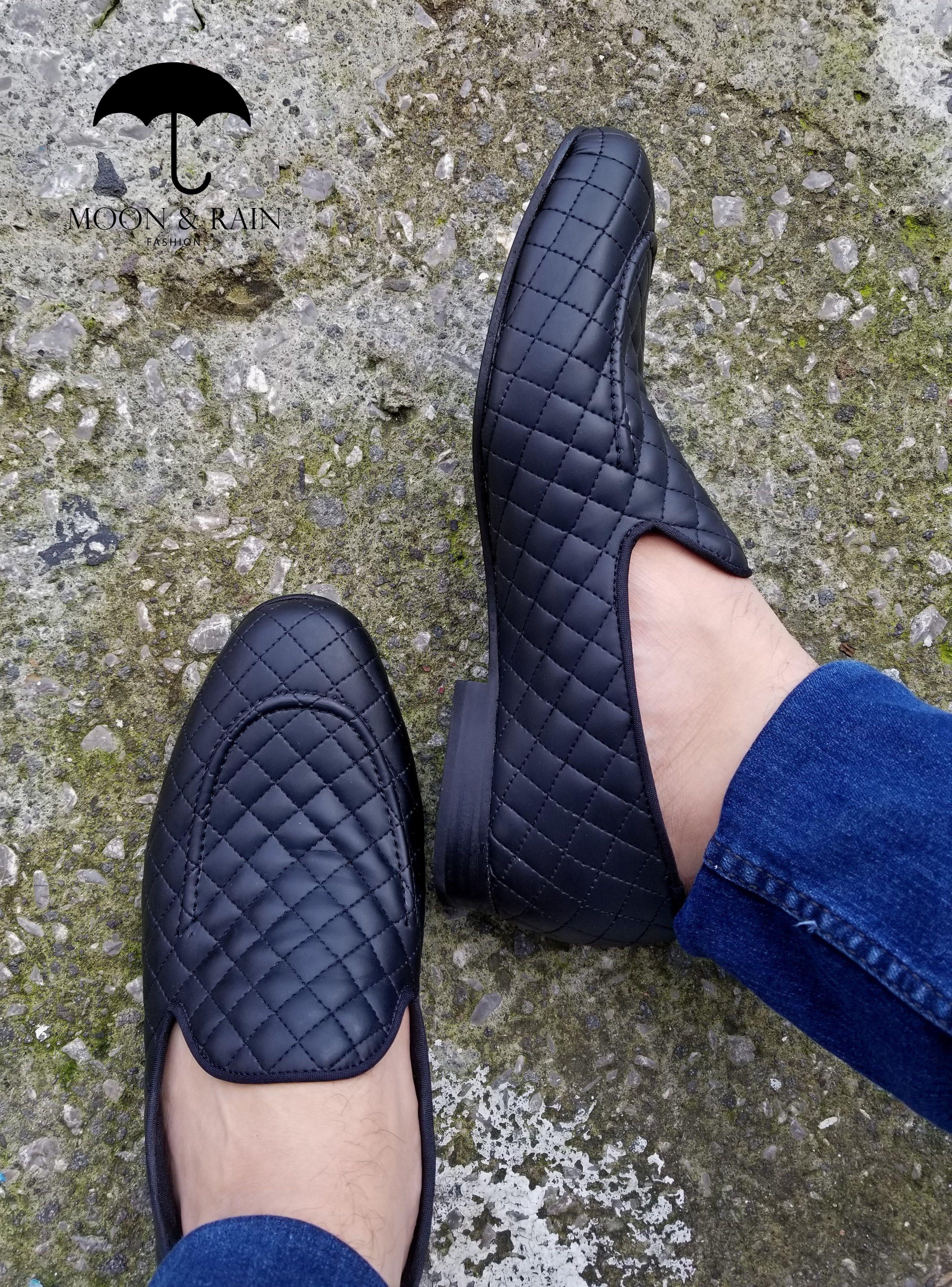 5cd47e7cf6 Loafer para hombre en piel tejida negra diseño liso exclusivo de Moon    Rain y Tiendas Platino  mocasin  zapatos  shoes
