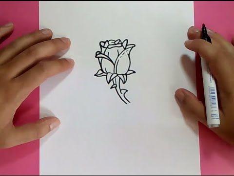 Como Dibujar Una Rosa Paso A Paso 7 How To Draw A Rose 7 Youtube Como Dibujar Rosas Dibujos De Rosas Tutorial De Dibujo