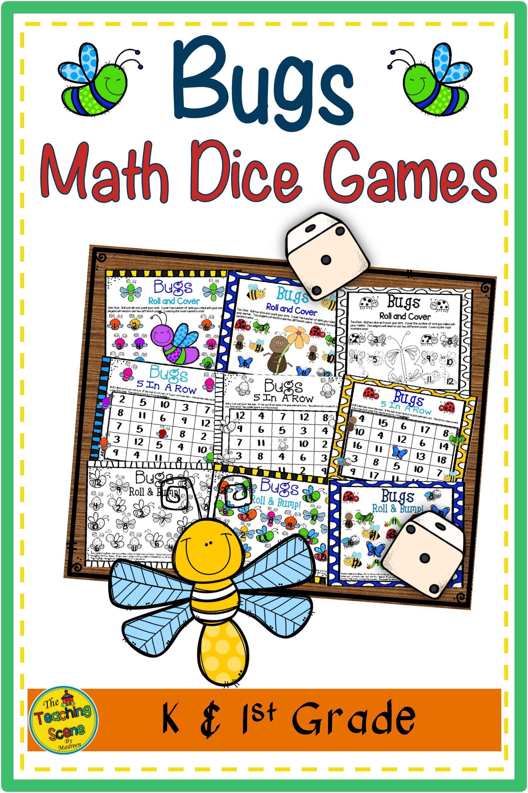 Bugs Math Dice Games in 2020 Math centers, Math facts, Math
