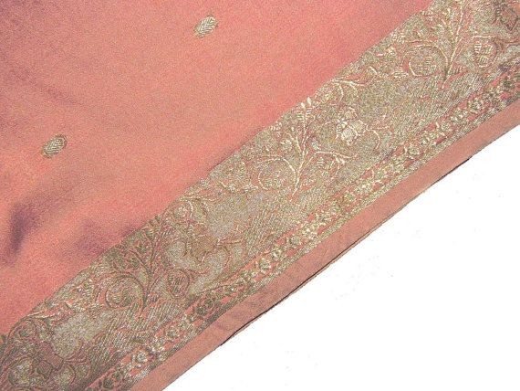 Vintage Saree Art silk Used Wrap Home Decor Scrap Sewing Recycled Fabric Women Dress Hand Woven Crafted Designer Sari