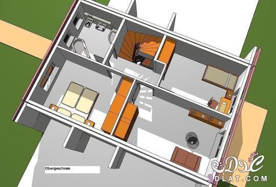 صور خرائط وتصاميم منازل و شقق مساحات صغيرة ومتوسطة تصاميم بيوت صغيرة مخططات منازل House Design Design Floor Plans