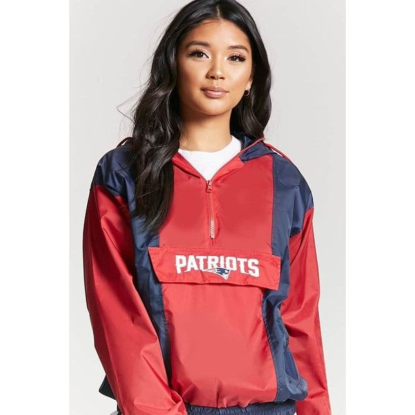 separation shoes f011e 415f4 Forever21 New England Patriots Anorak ($38) ❤ liked on ...